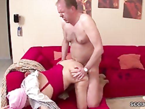 Бабку трахает её старый сын