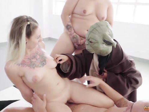 Прикольное порно видео с героями из звёздных войн