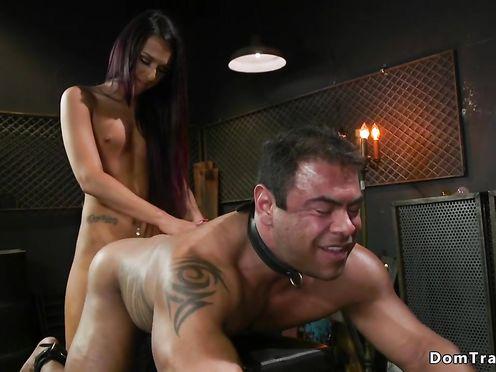 Шимейл посадил раба на цепь и трахнул его в раздолбанный анус
